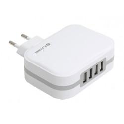 Chargeur Secteur Platinet 4 USB 6.8A / Blanc
