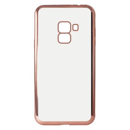 Etui Ksix Métal Flex pour Galaxy A8 2018 / Rose métallique