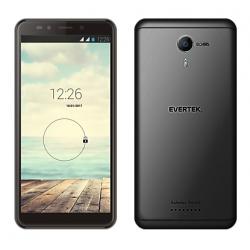 Téléphone Portable Evertek V8 / 3G / Double SIM / Noir + SIM Offerte (40 Go)