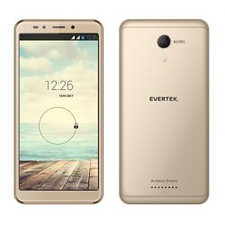 Téléphone Portable Evertek V8 / 3G / Double SIM / Gold + SIM Offerte (40 Go)