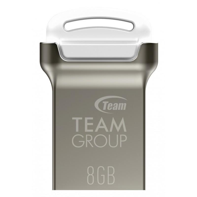 CLÉ USB 2.0 TEAMGROUP C161 / 8 GO / SILVER & BLANC