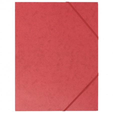 Chemise à élastique 3 rabats - A4 / Rouge