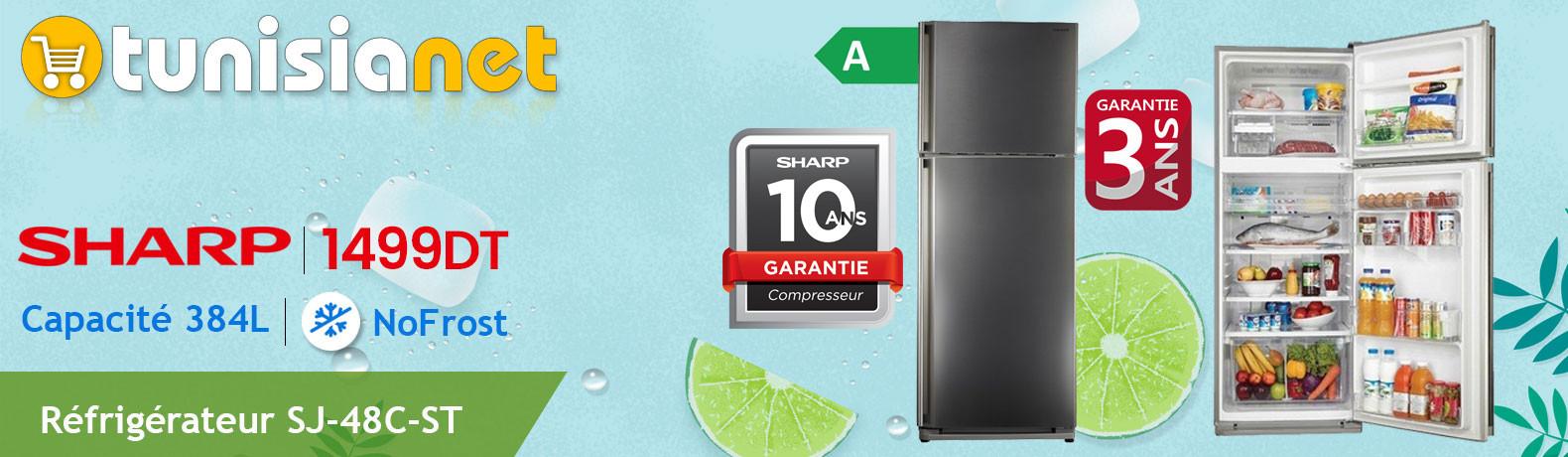 Réfrigérateur 2 Portes Sharp No Frost